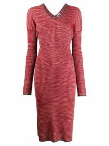 M Missoni ribbed-knit dress - Red