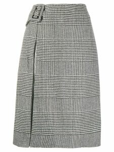 Ermanno Scervino houndstooth print skirt - Black