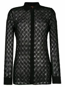Missoni sheer knitted shirt - Black