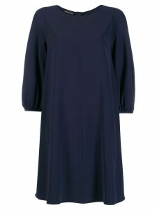 Emporio Armani smock mini dress - Blue