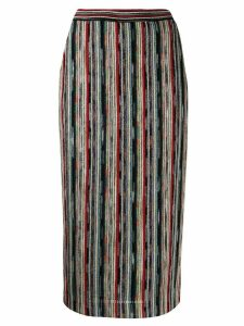 Missoni striped knitted skirt - Black