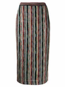 Missoni striped knitted skirt - Black