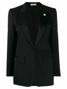 Lardini lapel. petal blazer - Black