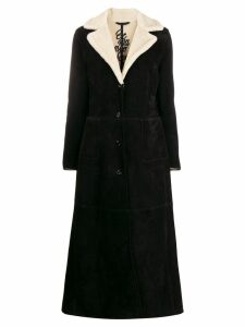 Ermanno Scervino slim-fit shearling coat - Black