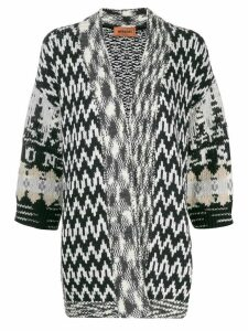Missoni oversized zigzag cardigan - Black