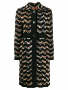 Missoni zigzag knit coat - Black