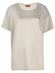 Missoni metallic knitted T-shirt - Gold