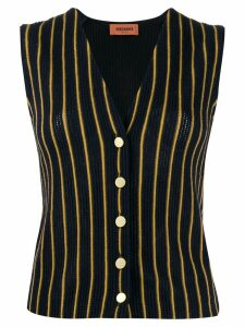 Missoni striped knitted vest - Blue