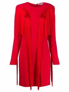 Stella McCartney fringed mini dress - Red