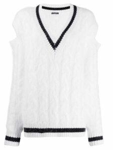 Balmain oversized cricket jumper - White