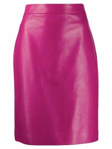 Gucci leather pencil skirt - Pink