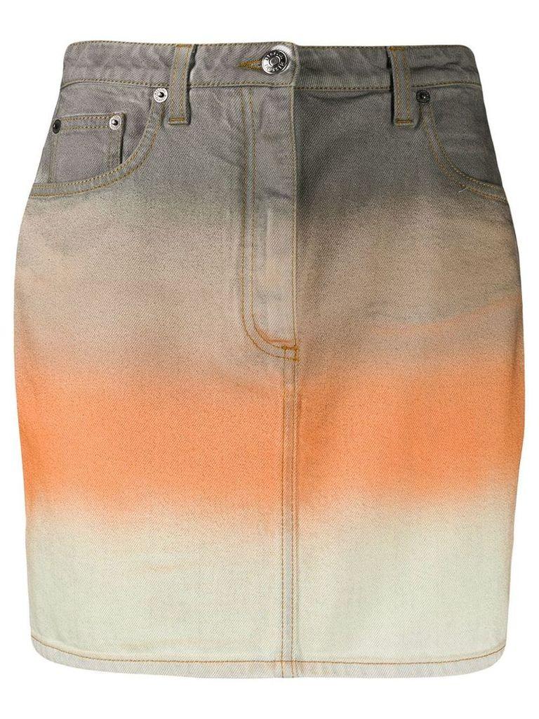 Missoni striped denim skirt - Grey