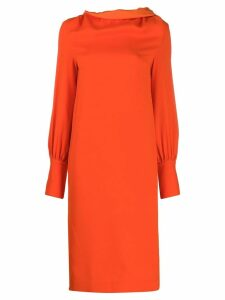 Erika Cavallini draped neck dress - Orange