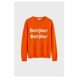 Chinti & Parker Orange Bonjour Bonjour Cashmere-wool Sweater