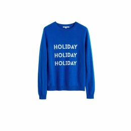 Chinti & Parker Royal-blue Holiday Wool-cashmere Sweater