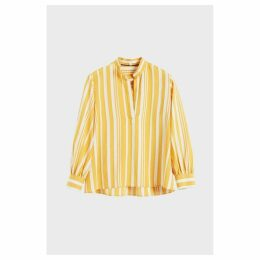 Chinti & Parker Yellow Striped Parasol Blouse