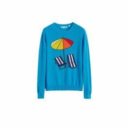 Chinti & Parker Blue Sunbed Cashmere Sweater