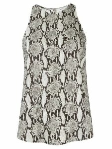 A.L.C. Anise crepe snakeskin top - Neutrals