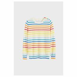 Chinti & Parker Rainbow Breton Stripe Cashmere Sweater
