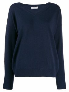 Closed knitted v-neck sweatshirt - 568