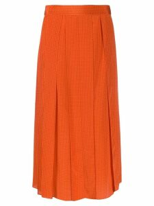 Joseph Charlie pleated houndstooth skirt - Orange