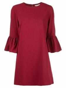 Alice+Olivia Coley ruffled-cuff dress - Red