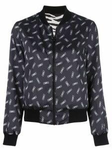 Alice+Olivia Lonnie reversible bomber jacket - Black