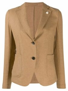 Lardini lapel-petal blazer - Brown