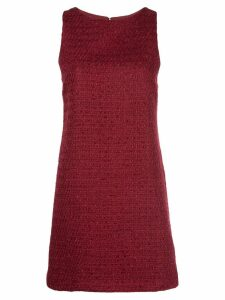 Alice+Olivia Clyde tweed mini dress - Red