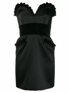 Moschino enver satin bustier dress - Black