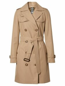 Burberry Cotton Gabardine Trench Coat - Brown