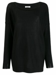P.A.R.O.S.H. Landed fine knit sweater - Black