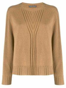 Alberta Ferretti crew neck knitted jumper - Neutrals