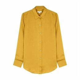 Equipment Essential Mustard Satin Shirt