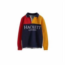 Hackett L-s Polo Hf Splt Lg Ls Y
