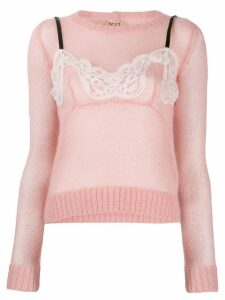 Nº21 bow detail ruched blouse - Pink