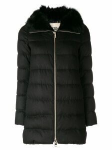 Herno fur lined coat - Black