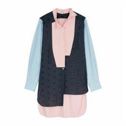 Loewe Panelled Asymmetric Cotton Shirt