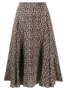 Masscob floral print midi skirt - Black