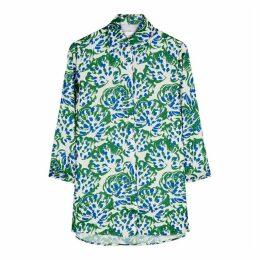 Victoria, Victoria Beckham White Floral-print Shirt