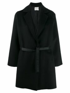 Forte Forte single-breasted belted coat - Black