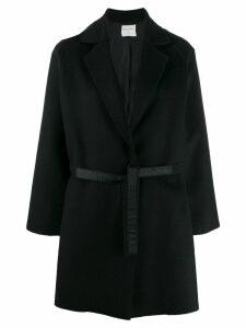 Forte Forte single-breasted belted coat - Black