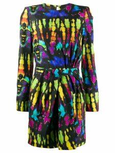 Dsquared2 tie-dye silk mini dress - Black