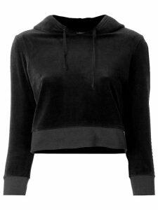 Juicy Couture cropped velvet hoodie - Black