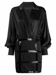 Christian Pellizzari jacquard print dress - Black