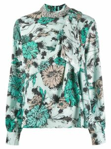 Pinko embellished collar blouse - Green