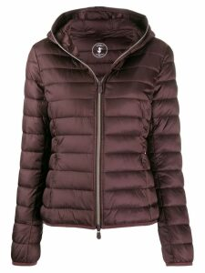 Save The Duck quilted zip-front jacket - Purple