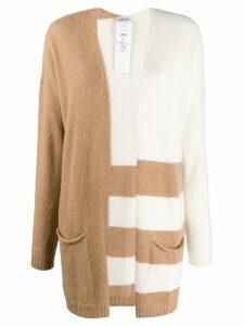 Liu Jo contrast striped cardigan - White