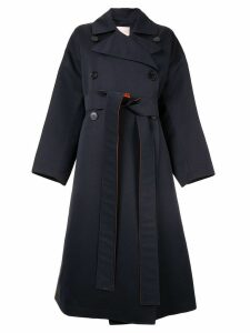 Roksanda colour block trench coat - Blue
