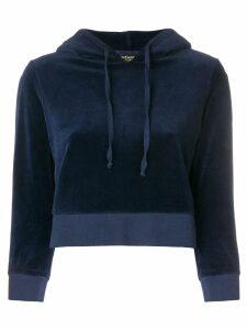 Juicy Couture cropped velvet hoodie - Blue